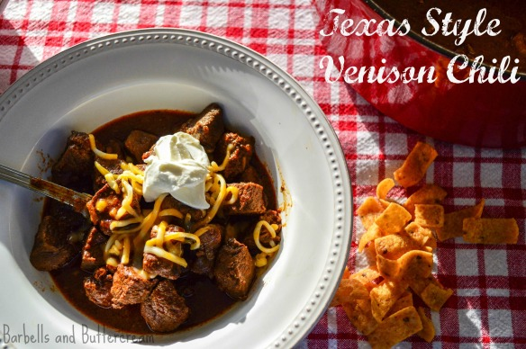 Texas Style Venison Chili - Barbells and Buttercream